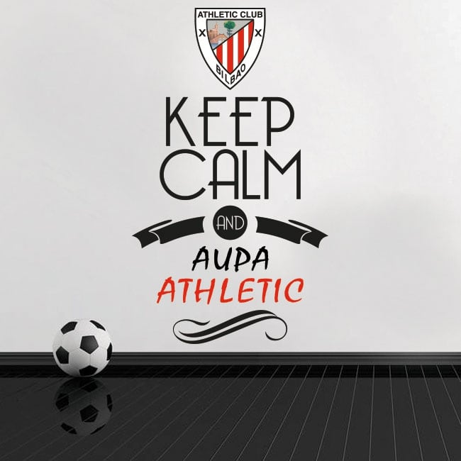 Stickers football vinyls keep calm and aupa athletic