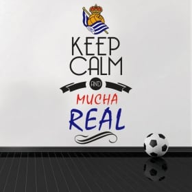 Stickers football vinyls keep calm and mucha real