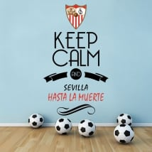 Stickers football keep calm and sevilla hasta la muerte