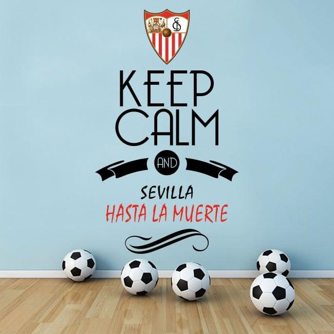 Stickers football keep calm and sevilla hasta la muerte