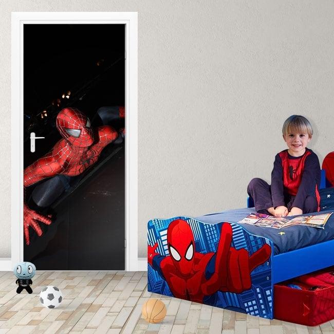 Decorative vinyl and stickers for doors spiderman