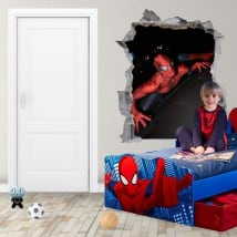 Adhesive vinyl and stickers 3d spiderman