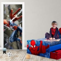 Vinyl stickers for doors spiderman