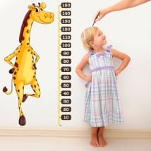 Vinyl and stickers height meter children's giraffe