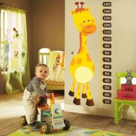 Vinyl and stickers height meter children's giraffe