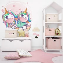 Decorative vinyl and stickers unicorns