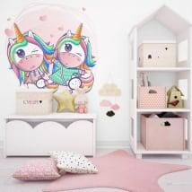 Decorative vinyl and stickers unicorns