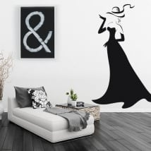 Decorative vinyl silhouette of woman with glamor