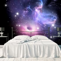 Wall murals black hole and nebula with stars