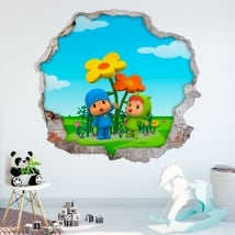 Vinyl and kids stickers 3d pocoyo