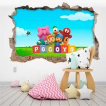Baby or children's vinyl pocoyo 3d