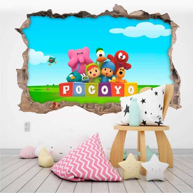 Baby or children's vinyl pocoyo 3d