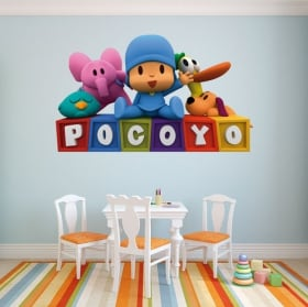 Decorative stickers for children or baby pocoyo