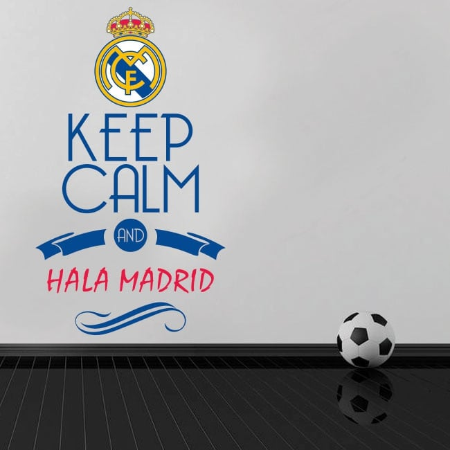 Vinyls football keep calm and hala madrid