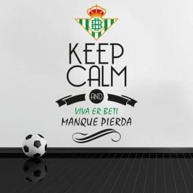Vinyls football keep calm and hala madrid