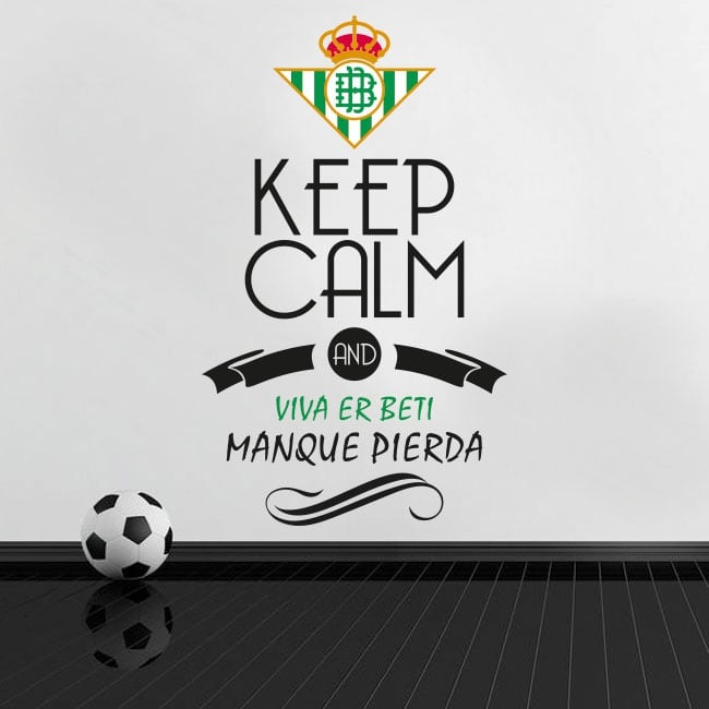 Vinyl football keep calm and viva er beti manque pierda