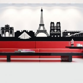 Vinyl and stickers france skyline