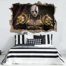 Vinyl and stickers 3d kratos god of war throne