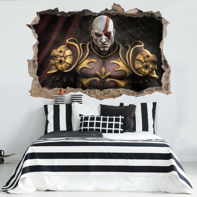 Vinyl and stickers 3d kratos god of war throne