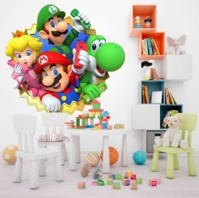 Decorative vinyl children or youth mario party