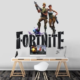 Vinyl and stickers fortnite video game