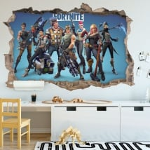 Vinyl stickers video game fortnite 3d