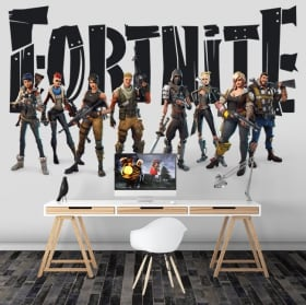 Adhesive vinyl video game fortnite