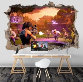 Adhesive stickers of fortnite 3d