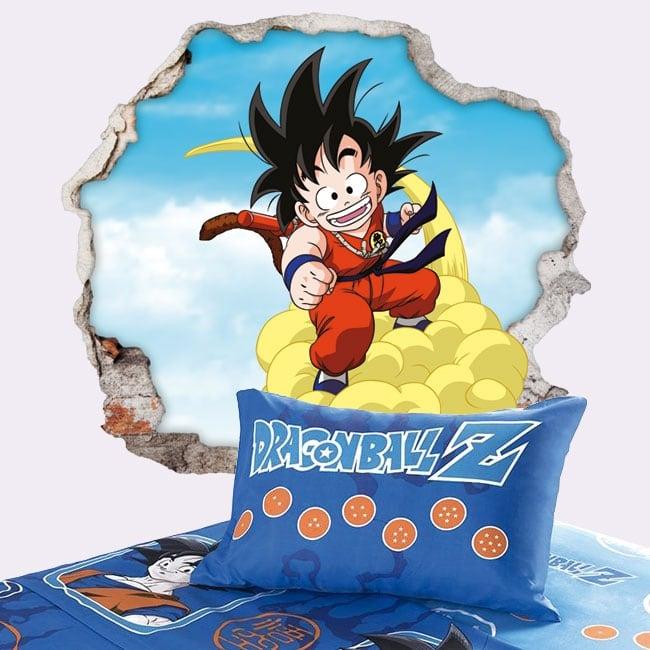 Decorative vinyl dragon ball son goku 3d