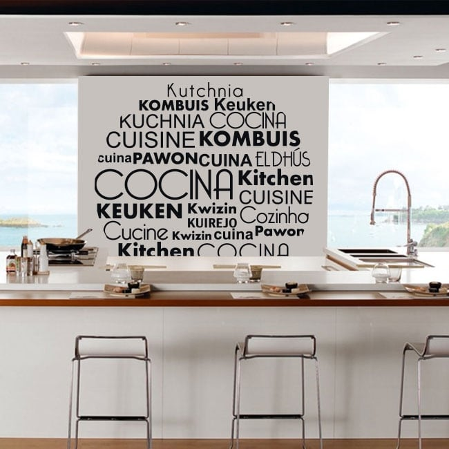 Vinyl and stickers kitchen in several languages