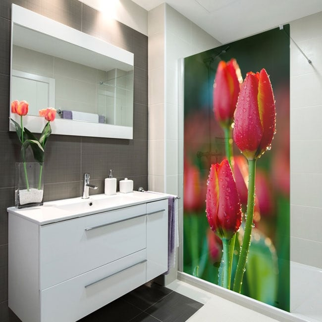 Vinyl for screens tulips flowers