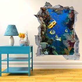 Vinyl 3d marine world