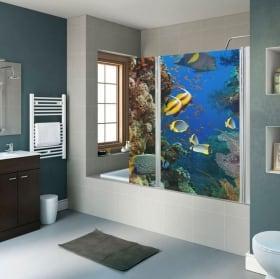 Vinyls screens baths lotus flower and zen stones