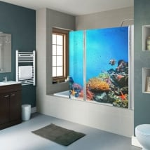 Vinyls screens world marine coral reef