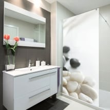 Decorative vinyl screens zen stones