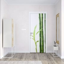 Vinyl for doors bamboo