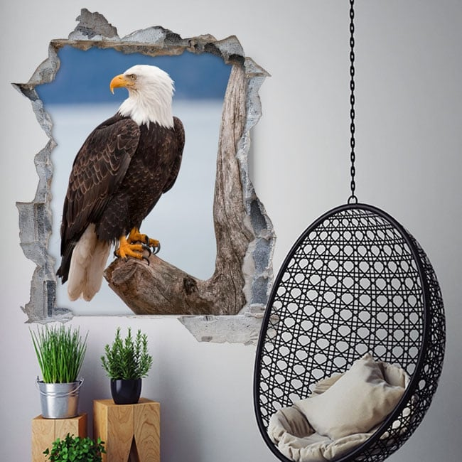 Stickers 3d american bald eagle