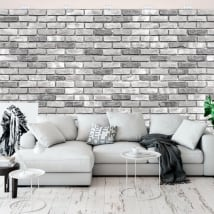 Wall murals with bricks effect