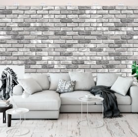 Wall murals of bricks