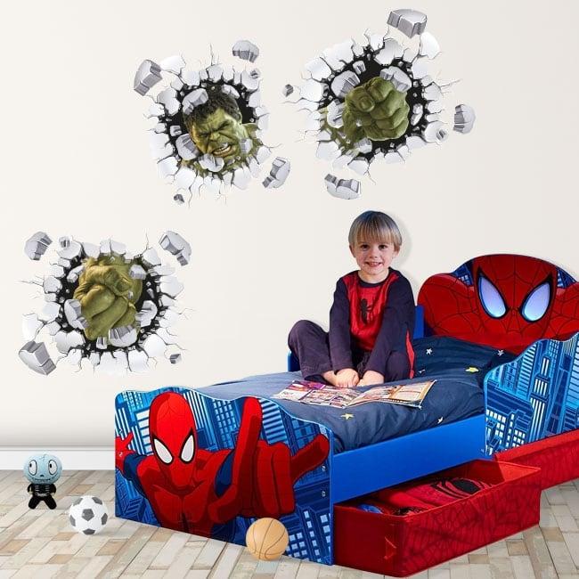 Vinyl children or youth 3d marvel hulk