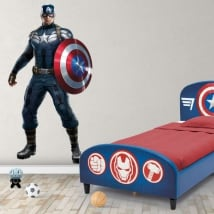 Vinyl and stickers marvel captain america