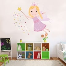 Decorative vinyl and children's stickers magic fairy