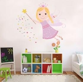 Children's vinyl fairy hearts
