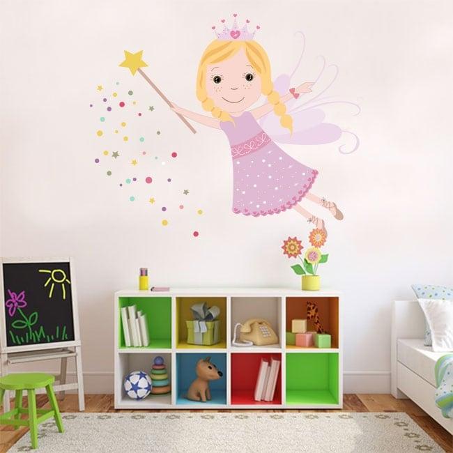 Decorative vinyl and children's stickers magic fairy