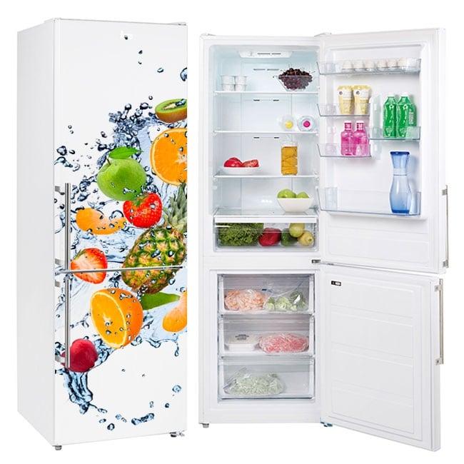 Vinyls for refrigerators fruits and water splash