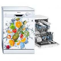 Vinyls dishwasher fruit and water splash