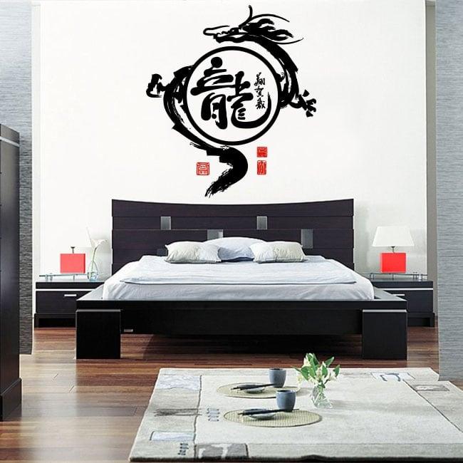 Decorative vinyl and stickers oriental dragon