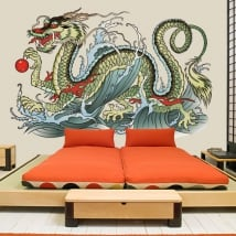 Vinyl and stickers oriental dragon