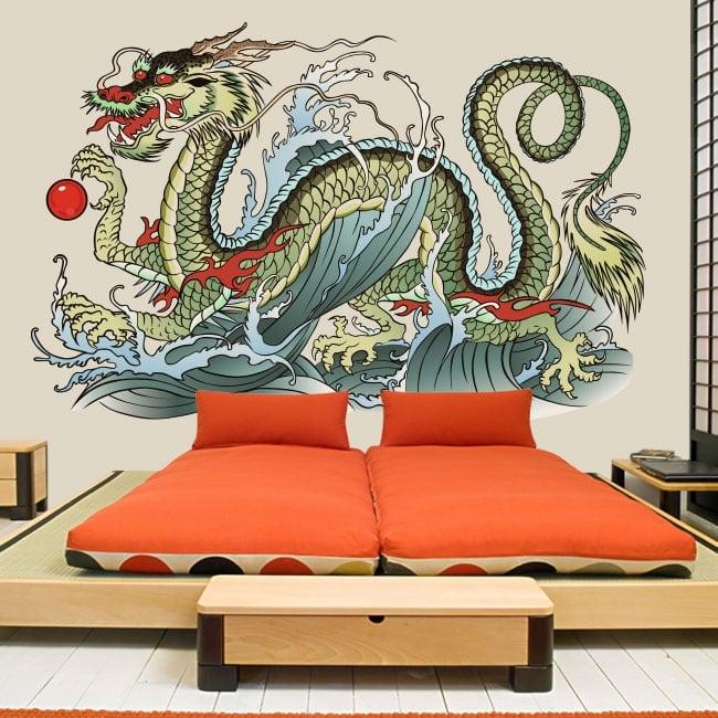 Vinyl and stickers oriental dragon