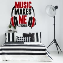 Stickers and decorative vinyls music phrases